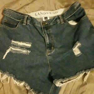 Landsend Cutoff Jean Shorts size 16